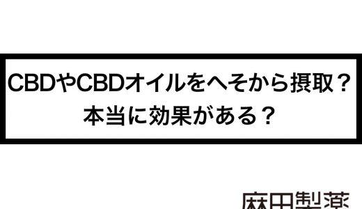 CBDやCBDオイルをへそから摂取?本当に効果がある?